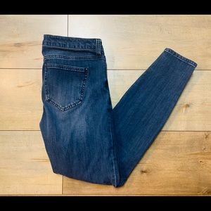 Realm Cropped Blue Skinny Jeans